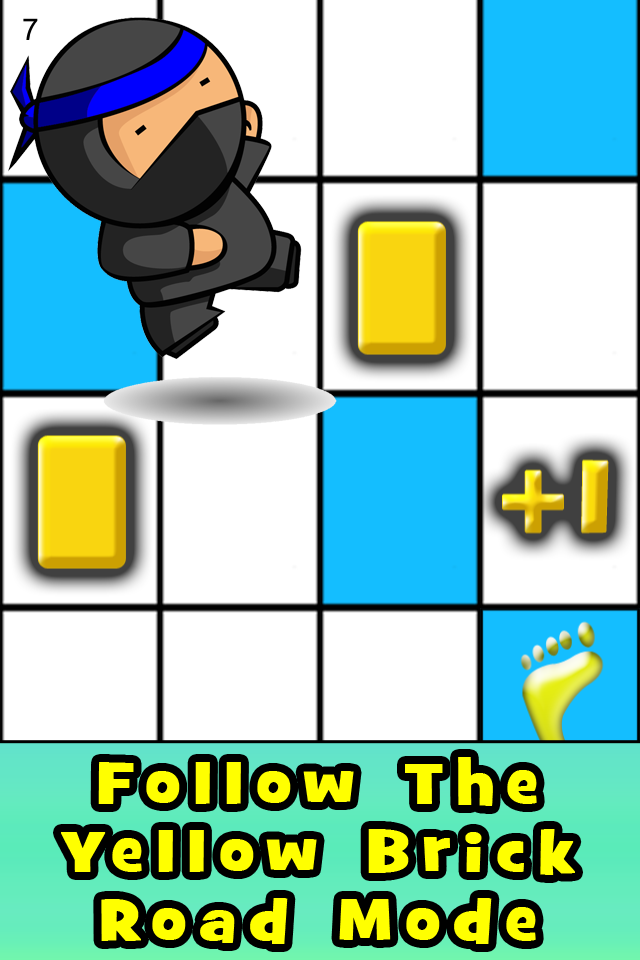 Follow The Yellow Brick Road Mode Stay on the blue tiles but pick up yellow bricks along the way for extra points!