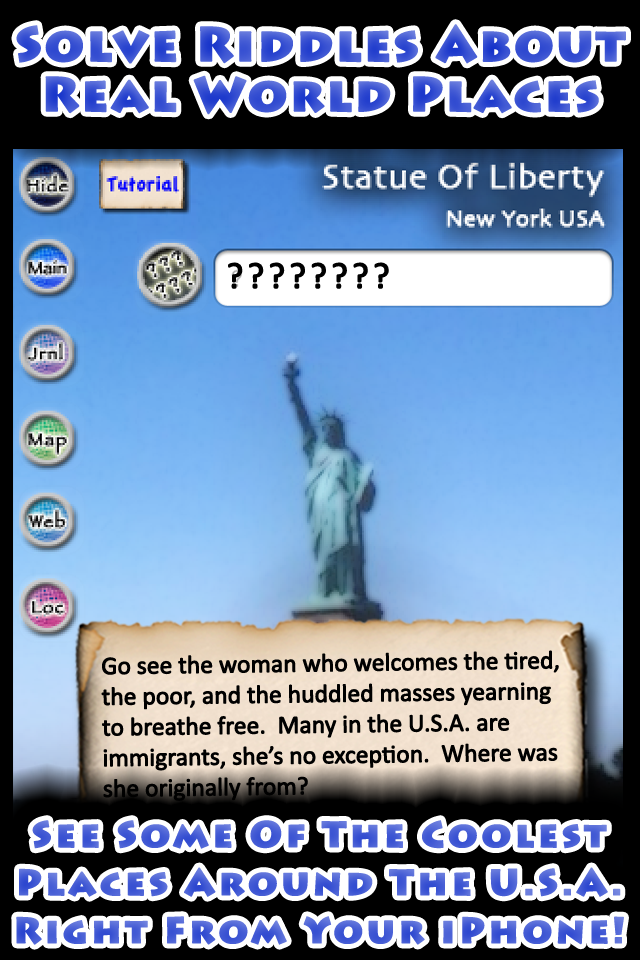 The Map App Game USA Edition Lite Solve Riddles About Real World Places And Then Find Them